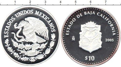 Картинка Мелочь Мексика 10 песо Серебро 2005