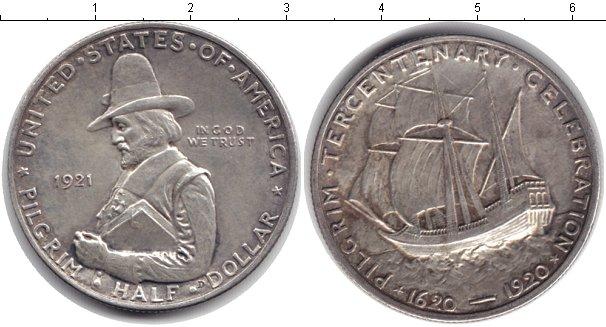 Картинка Монеты США 1/2 доллара Серебро 1921