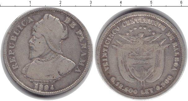 Картинка Монеты Панама 50 сентесимо Серебро 1904