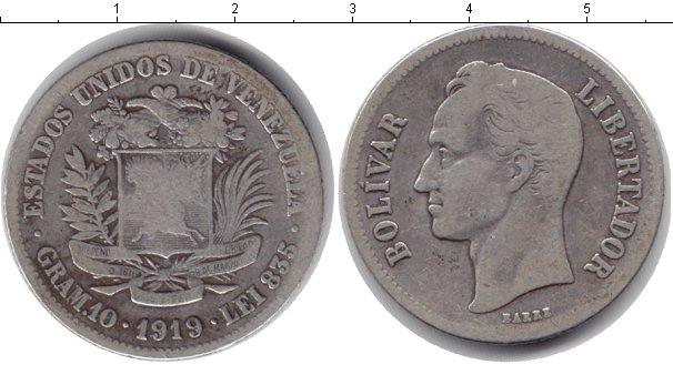 Картинка Монеты Венесуэла 1 боливар Серебро 1919