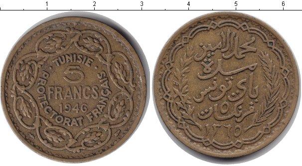 Картинка Мелочь Тунис 5 франков  1946
