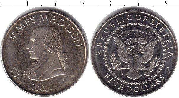 Картинка Монеты Либерия 5 долларов Медно-никель 2000
