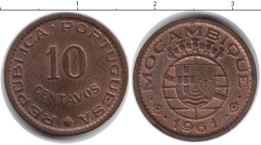 Картинка Монеты Мозамбик 10 сентаво Медь 1961