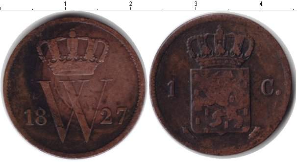Картинка Монеты Нидерланды 1 цент Медь 1827