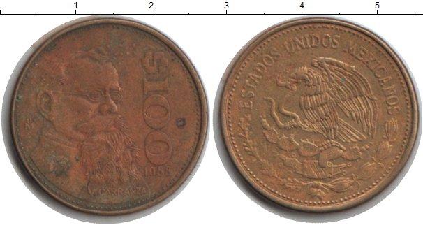 Картинка Монеты Мексика 100 песо  1988