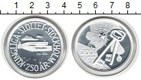 Изображение Монеты Швеция 200 крон 2004 Серебро Proof-