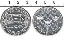 Изображение Монеты Швеция 100 крон 1984 Серебро Proof- Европа. Стокгольм