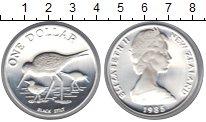 Изображение Монеты Новая Зеландия 1 доллар 1985 Серебро UNC-