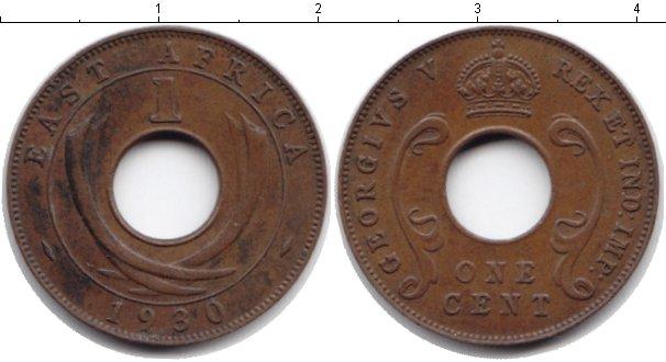 Картинка Монеты Восточная Африка 1 цент Медь 1930
