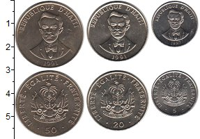 Изображение Наборы монет Гаити Гаити 1991-1997 0 Медно-никель UNC- В наборе 3 монеты но