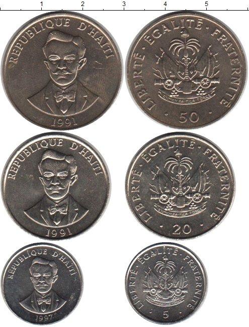 Картинка Наборы монет Гаити Гаити 1991-1997 Медно-никель 0