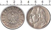 Изображение Монеты Польша 10 злотых 1936 Серебро XF И.Пилсудский. Герб П