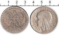 Изображение Монеты Польша 10 злотых 1933 Серебро VF Королева Ядвига. Гер