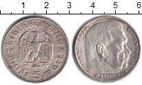 Изображение Монеты Третий Рейх 5 марок 1935 Серебро XF Гинденбург. Даты жиз