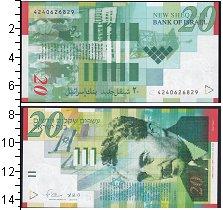 Изображение Банкноты Израиль 20 шекелей 2008  UNC-