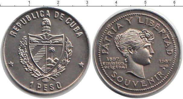 Картинка Монеты Куба 1 песо Медно-никель 1987