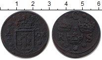 Изображение Монеты Швеция 1/4 эре 1634 Медь