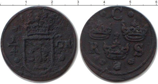 Картинка Монеты Швеция 1/4 эре Медь 1634