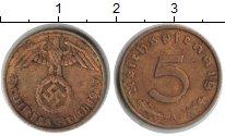 Изображение Монеты Третий Рейх 5 пфеннигов 1937  XF А