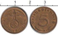 Изображение Монеты Третий Рейх 5 пфеннигов 1938  XF D