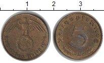 Изображение Монеты Третий Рейх 5 пфеннигов 1938  XF А