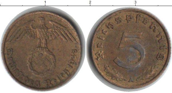 Картинка Монеты Третий Рейх 5 пфеннигов  1938