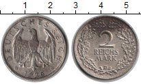 Изображение Монеты Веймарская республика 2 марки 1926 Серебро XF D