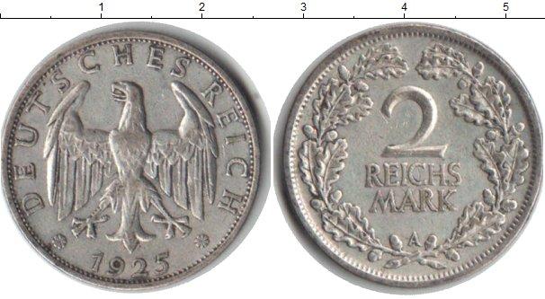 Картинка Монеты Веймарская республика 2 марки Серебро 1925