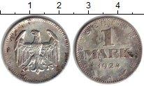 Изображение Монеты Веймарская республика 1 марка 1924 Серебро XF А