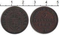 Изображение Монеты Пруссия 3 пфеннига 1865 Медь VF