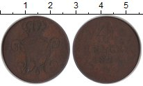 Изображение Монеты Германия Гессен-Кассель 4 геллера 1824 Медь VF