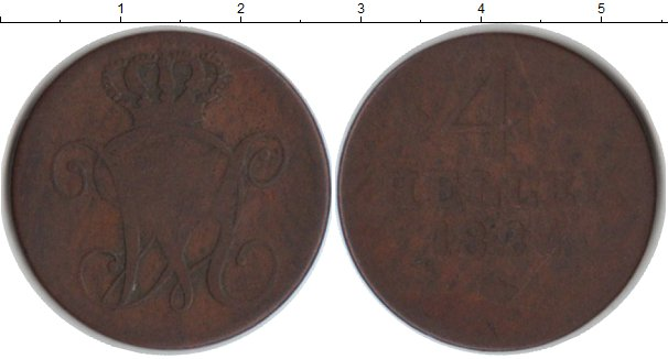 Картинка Монеты Гессен-Кассель 4 геллера Медь 1824
