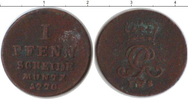 Картинка Монеты Брауншвайг-Люнебург-Каленберг-Ганновер 1 пфенниг Медь 1770