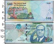Изображение Банкноты Багамские острова 10 долларов 0  UNC- Сэр Стаффорд Сэндс.