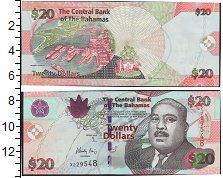 Изображение Банкноты Багамские острова 20 долларов 0  UNC- Сэр Майло Боутон Бат