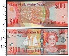Изображение Боны Каймановы острова 100 долларов 0  UNC- Елизавета II. Парусн
