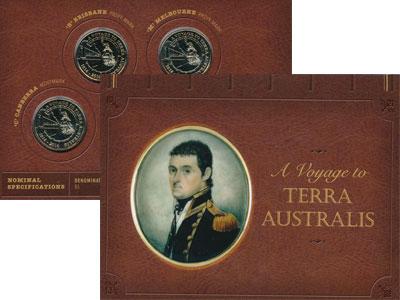 Изображение Подарочные монеты Австралия Путешествие к Южной земле! 2014  AUNC `Набор посвящен 200-