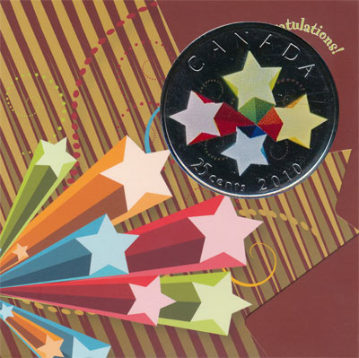 Изображение Подарочные наборы Канада Поздравляю! 2010 Медно-никель AUNC