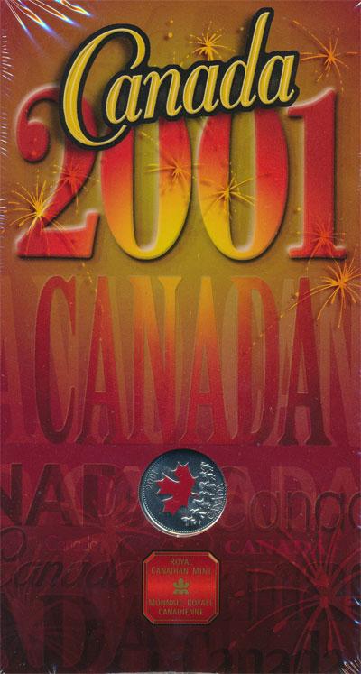 Изображение Подарочные монеты Канада Канадский дух! 2001  AUNC