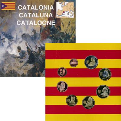 Изображение Подарочные монеты Испания Самые известные жители Каталонии 2014  UNC Представляем Вашему