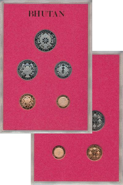 Изображение Подарочные монеты Бутан Выпуск 1979 1979  Proof Представляем Вашему