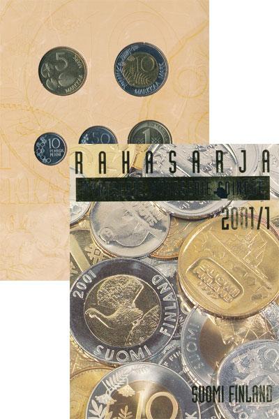 Изображение Подарочные монеты Финляндия Выпуск 2001/1 2001  UNC Представляем Вашему