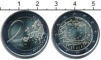 Изображение Мелочь Финляндия 2 евро 2015 Биметалл UNC 30 лет флагу Европы