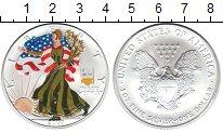 Изображение Монеты США 1 доллар 2007 Серебро UNC Унция серебра.