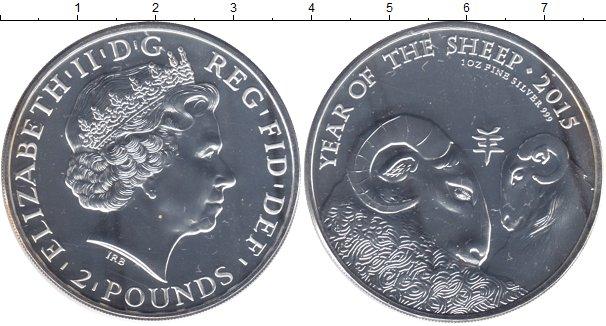 Картинка Мелочь Великобритания 2  фунта Серебро 2015