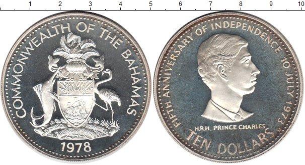 Картинка Монеты Багамские острова 10 долларов Серебро 1978