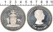 Изображение Монеты Багамские острова 10 долларов 1978 Серебро Proof- 5 лет Независимости