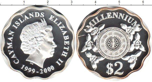 Картинка Монеты Каймановы острова 2 доллара Серебро 2000