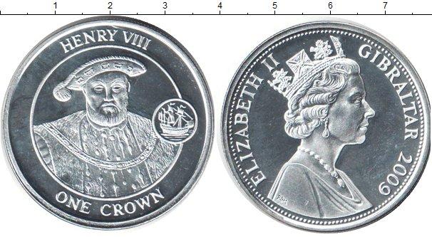Картинка Монеты Гибралтар 1 крона Серебро 2009