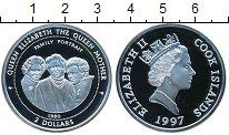Изображение Монеты Острова Кука 2 доллара 1997 Серебро Proof- Елизавета II. Семейн